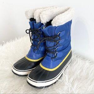 Sorel Winter Carnival Waterproof Duck Boots blue